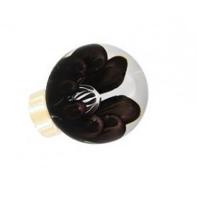 bouton de porte sphérique bulles de fleur Noir Laiton