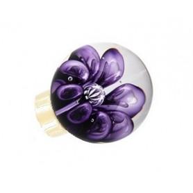 bouton de porte sphérique bulles de fleur Hyacinthe laiton