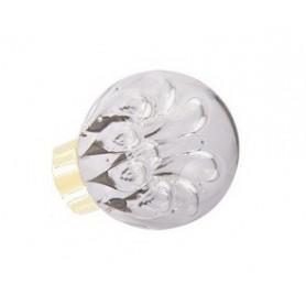 bouton de porte sphérique bulles de fleur Incolore laiton