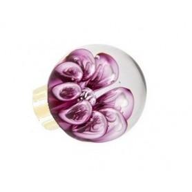 bouton de porte sphérique bulles de fleur Rose Fuchsia Laiton