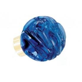 bouton de porte sphérique Lavallière Bleu Laiton