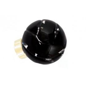 bouton de porte sphérique Lavallière Noir Laiton