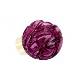 bouton de porte sphérique Lavallière Rose Fuchsia Laiton