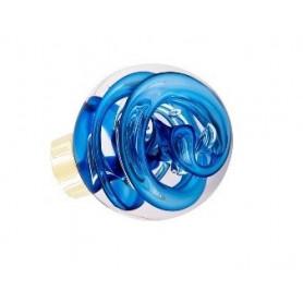 bouton de porte forme sphérique tubes de bulles bleu Laiton
