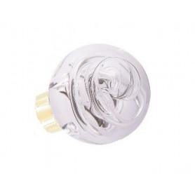 bouton de porte de forme sphérique tubes de bulles Incolore Laiton