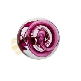 bouton de porte sphérique tubes de bulles Rose Fuchsia Laiton