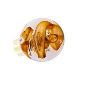 bouton de porte sphérique tubes de bulles Jaune Topaze