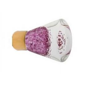 Bouton de Meuble Conique Micro Bulles Rose Fuchsia avec Embase