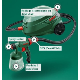 Système de pulvérisation fine BOSCH PFS 105 E
