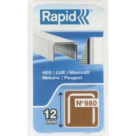 Agrafes 12 mm fil plat Rapid No  5 - 980