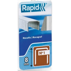 Agrafes 8mm fil fin Rapid No 1 - 455