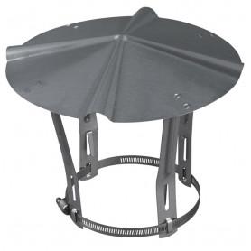 Chapeau galvanisé de fumisterie pour tubage de 83 mm à 111 mm