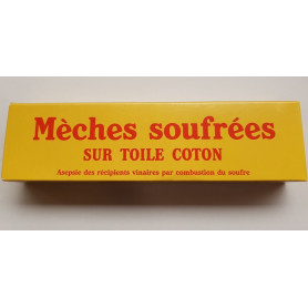Mèches soufrées sur Toile Coton