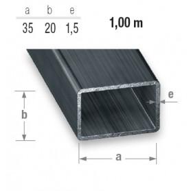 Tube rectangulaire en acier de 20 mm X 35 mm d'un mètre