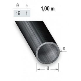Tube rond en acier de 16 mm et un mètre de long