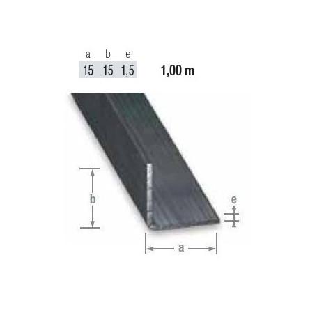 Cornières en acier profilé à froid de 15 mm en 1 mètre de long