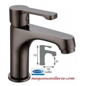 Mitigeur de lavabo Arolla canon de fusil en PVD