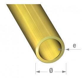 Tube rond laiton de 1 mètre