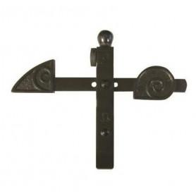 Arrêt de grille à bascule noir réglable pour portail de 45 à 60 mm