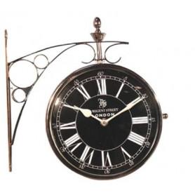 Pendule ou horloge de gare inox