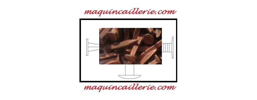 Les clous ou pointes en cuivre pour l'ameublement ou la décoration