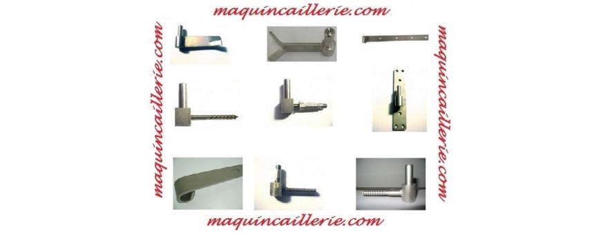 Gonds et pentures de volets et portails en inox Marine ou Bâtiment