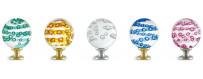 Boules d'escalier en verre, modèles MICRO BULLES  ou SPIRABULLES des Verreries de Bréhat