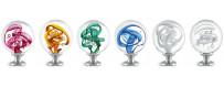 Boules d'escalier en verre, modèles TUBES DE BULLES des Verreries de Bréhat