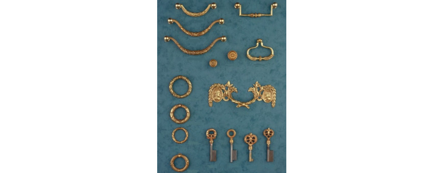 Poignées et clés de style Louis XVI