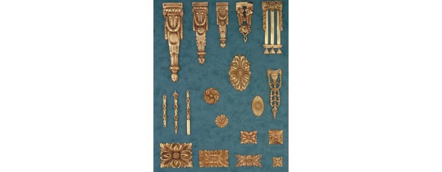 Chutes, Rosaces, Asperges, Frises et Tabliers Style Louis XVI