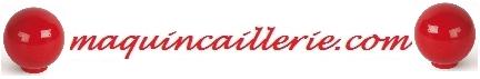 Boutons sphériques rougee et logo