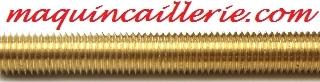 Tige filetée laiton et logo