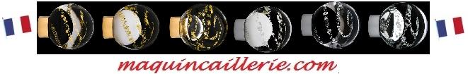 Logo maquincaillerie bouton prestige France