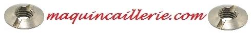 écrous fraisés inox et logo maquincaillerie.com