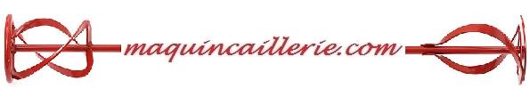 Logo maquincaillerie et helice de malaxage