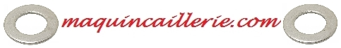 Logo des rondelles plates étroites en inox