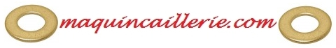 Logo des rondelles en laiton