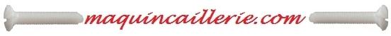 Logo des vis nylon ou plastique à tête fraisée