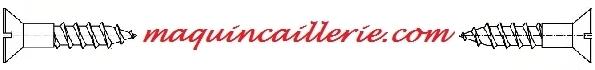 Logo des têtes fraisées en inox marine