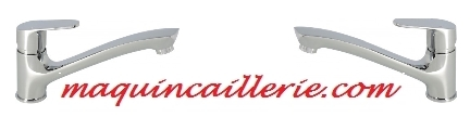 Logo sur mitigeur évier Diélé marque Rousseau