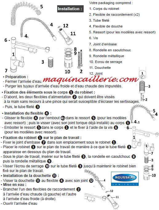 Mitigeur D Evier Modele Stoli Double Jet A Bec Et A Manette